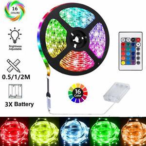 Batterie Betrieben Band 5050 RGB LED Stripe Mehrfarbige Licht Band Wasserdicht