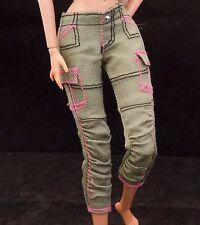 BARBIE FASHIONISTAS GREEN CARGO PANTS CLOTH ACCESSORY MATTEL ORIGINAL NEW
