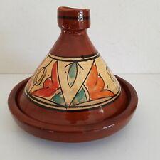 Plat a tajine tagine Marocain b8 cuisson terre cuite émaillé 30cm 5/6 personnes