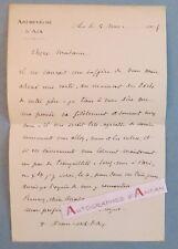 L.A.S 1905 Edwin BONNEFOY Archevêque AIX EN PROVENCE - lettre autographe LAS