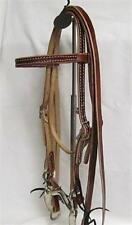 "Western Pony Bridle - Red - Mild 4"" Curb 44"" Reins - New"