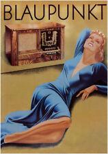 VINTAGE GERMAN RADIO POSTER - BLAUPUNKT Music Art Print 27.5x39.5