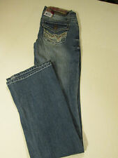 WALL FLOWER LEGENDARY BOOTCUT JEANS JR SZ 11 REG -BLUE DISTRESSED- NWT