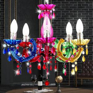 Decken Leuchte Wohnzimmer Lüster Lampe Esszimmer Kronleuchter Beleuchtung Bunt
