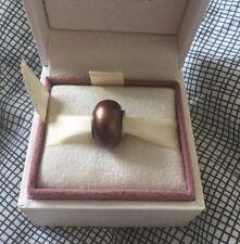 Nuevo Borgoña Violeta Oro Estampado 925 plata encanto europeo * * Regalo de Pascua