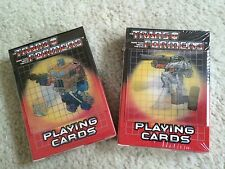 Hasbro G1 Transformers PLAYING CARDS Optimus Prime Megatron Hologram Cover (2pk)
