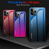 Tempered Glass Phone Case For iPhone 11 Pro Max Luxury Hard Shockproof Bumper