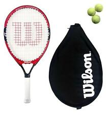 "Wilson Roger Federer 21"" Junior Tennis Racket + 3 Balls RRP £60 (Red/Black)"