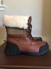 UGG BUTTE CHESTNUT BOMBER WATER-PROOF WINTER SNOW BOOTS, *NEW*Men's Size 9.5
