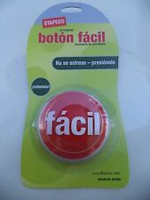 Vintage Staples 2006 Old Stock Boys Club En Español Botón Fácil Easy Button