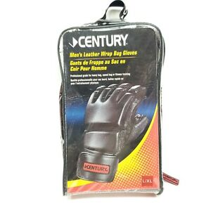 CENTURY Mens Leather Wrap Bag Gloves L/XL New In Bag