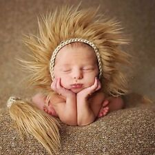Newborn Baby Lion Crochet Knit Hat Costume Outfits Cap Photo Photography Prop