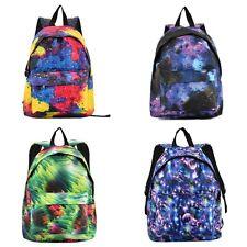 Girls ladies school college University backpack rucksack Cosmic multicolour