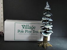 Dept 56  VILLAGE POLE PINE TREE Cold Cast Porcelain 8""