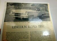 "Lincoln 1957 Magazine clippings advertisement ""Lincoln Road Test""  vintage"