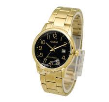-Casio MTPV002G-1B Men's Metal Fashion Watch Brand New & 100% Authentic
