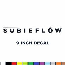 "9"" SUBIEFLOW Decal subaru STI WRX BRZ turbo boost sticker vinyl subie flow"