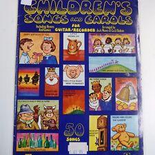 CANZONIERE Canzoni per Bambini e canti incl. GIOCHI GUITAR/Registratore J Moore C Bolto