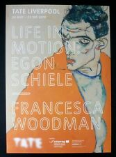 EGON SCHIELE AND FRANCESCA WOODMAN   2018 ART EXHIBITION POSTER  Tate