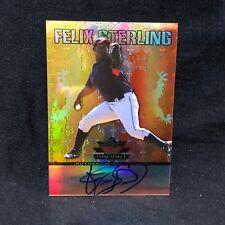 FELIX STERLING 2011 LEAF VALIANT ON CARD ROOKIE AUTO ORANGE #d 14/25