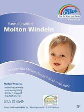 Alvi Molton Windeln 3-er Pack 40x40 Spucktuch Mullwindeln Moltonwindeln