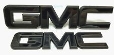 Custom Whole Black Front Grille Rear Tailgate Emblems Fit 2014-2019 GMC Sierra