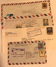 Lot of 4 1972 Venezuela Air Mail Letters with Stamps [Historical figure stamps]
