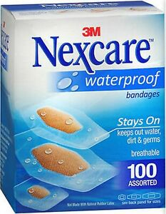 Nexcare Bandages CLEAR WATERPROOF Assorted Sizes 100ct BIG BOX