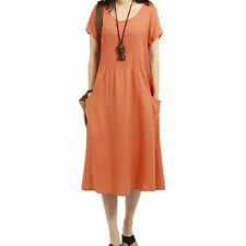 Unbranded Linen Solid Dresses for Women