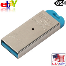 USB 2.0 Micro SD SDHC TF Flash Memory Cellphone Card Reader Mini Adapter Metal