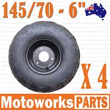 "4 x 145/70 - 6"" inch Front Rear Wheel Rim Tyre Tire Quad Bike ATV Buggy Gokart"