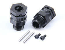 Alloy rear hex hub set black for 1/5 hpi baja 5b 5t 5sc rovan km car