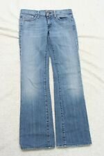 7 For All Mankind Blue Womans Womens Jeans Pants 28 Cotton Polyurethane J79