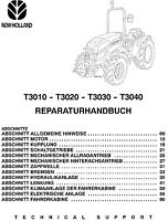 NEW HOLLAND T3010 T3020 T3030 T3040 TRAKTOR REPARATURHANDBUCH WERKSTATTHANDBUCH