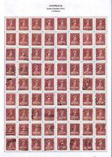 "1941 Australia ""Queen Elizabeth"" 1 D Used 72 Stamps"
