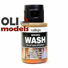 Acrylic Wash EUROPEAN DUST for All Armor Types 35ml Bottle - Vallejo Wash 76523