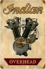 Indian Overhead Engine rusted steel sign  450mm x 300mm (pst)