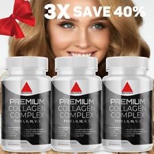 Ultra Premium Collagen Peptides Pills Hydrolyzed Anti-Aging (Types I,II,III,V,X)