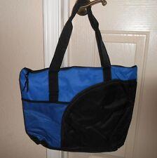 TOTE BAG, PURSE, SHOPPING, TRAVEL, OVERNIGHT BAG, BLUE & BLACK, NWOT!