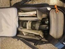 Canon EOS Rebel XTI 400D with Canon 18-55 MM, Sigma DG Macro 28-300mm, lowepro