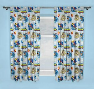 """Official Paw Patrol Curtains 66"""" x 54"""" Mighty Pups Marshall Chase Rubble Kids"""