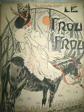 REVUE LE FROU-FROU N° 328 DESSINS COUV. JACK ABEILLé CARLO SPAHN 1907