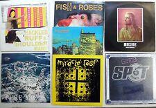 INDIE pop ROCK Lot of 7 LPs #9957 Miracle Room HP ZINKER Fish & Roses etc..