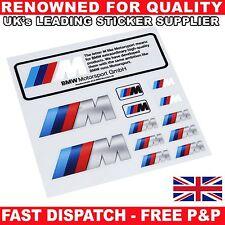 10 Piezas Set M Sport Performance insignia emblema de la Etiqueta Engomada del Coche Calcomanía para todos los BMW S156