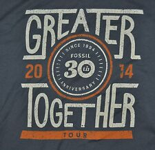 T-SHIRT LARGE FOSSIL WATCHES BAGS CLOTHING 30TH ANNIVERSARY SHIRT