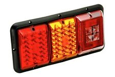 Bargman 47-84-005 - LED Red/Amber/ Incan.BU,Tail Light w Black Base RECESS MOUNT