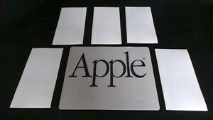 Vtg Apple Macintosh 1980's Garamond Font Mouse Pad Gray Black w/ White Stickers