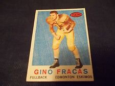 1959 Topps CFL #48 Gino Fracas Rookie Edmonton Eskimos - nrmt