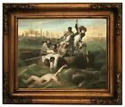 Copley Watson and the Shark 1778 Wood Framed Canvas Print Repro 11x14