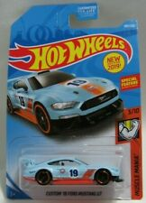 Hot Wheels Muscle Mania 3/10 Blue Custom '18 Ford Mustang GT 180/250 Mattel